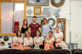 Teamfoto aus dem ElternBloggerCafé EBC 2019 in München im Weststudio