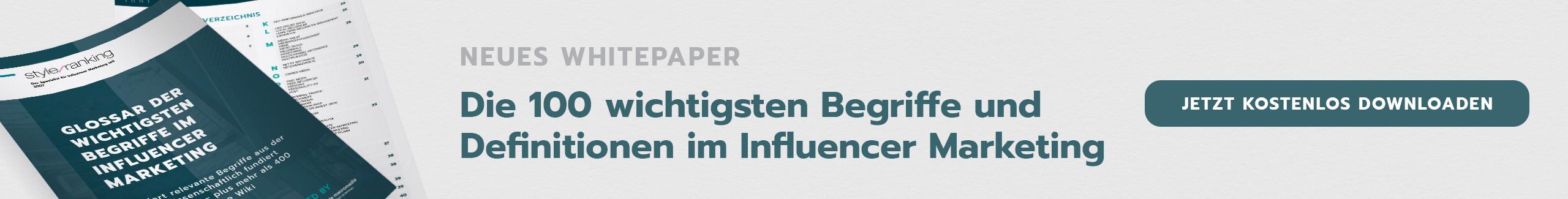 Die 100 wichtigsten Begriffe und Definitionen im Influencer Marketing
