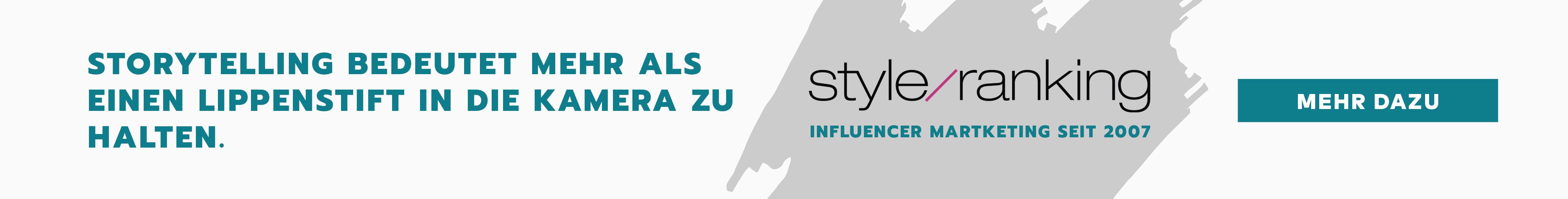 styleranking ist Spezialist im Influencer Marketing seit 2007 - jetzt unverbindlich beraten lassen...