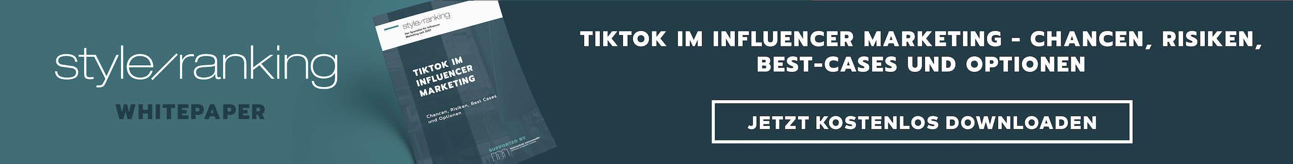 Kosten, Werbemöglichkeiten, Chancen: Jetzt kostenlos das Whitepaper zu Influencer Marketing mit TikTok downloaden!